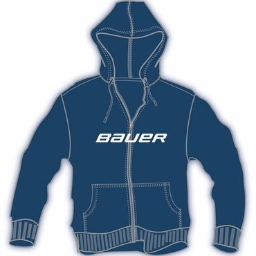Bauer FZ Classic Youth Printed Hockey Hoodie