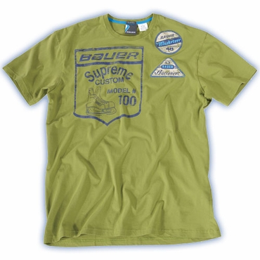 Bauer Heritage Patch Short Sleeve Hockey Shirt - Senior