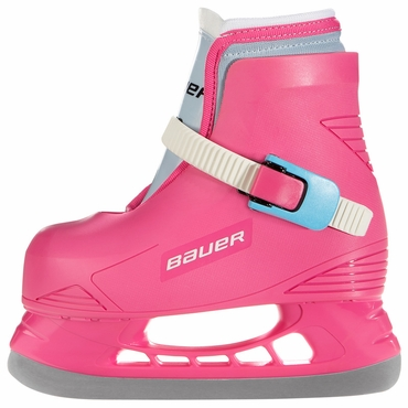 Bauer Lil Angel Hockey Ice Skates - Pink - Youth
