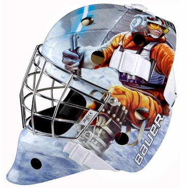 Bauer NME 3 Certified Straight Bar Hockey Goalie Mask - Luke Skywalker - Senior