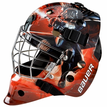 Bauer NME 3 Certified Straight Bar Hockey Goalie Mask - Darth Vader - Youth