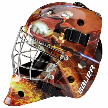 Bauer NME 3 Certified Straight Bar Hockey Goalie Mask - Storm Troopers - Youth