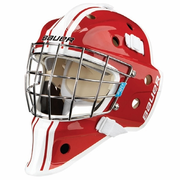Bauer NME 3 Decal Junior Hockey Goalie Mask - Red