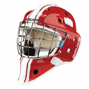 Bauer NME 3 Decal Senior Hockey Goalie Mask - Red