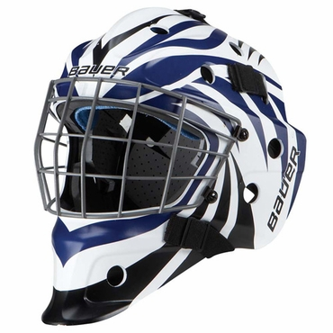 Bauer NME 5 Designs Junior Hockey Goalie Mask - Aggression Black/Blue