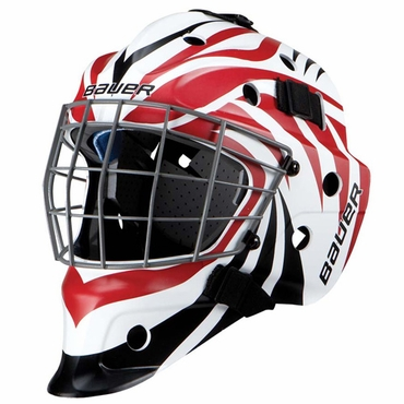 Bauer NME 5 Designs Senior Hockey Goalie Mask - Aggression Black/Red