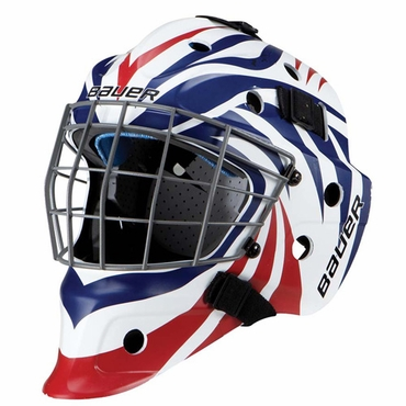 Bauer NME 5 Designs Senior Hockey Goalie Mask - Aggression Red/Blue
