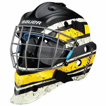 Bauer NME 5 Designs Senior Hockey Goalie Mask - Vintage Black/Yellow