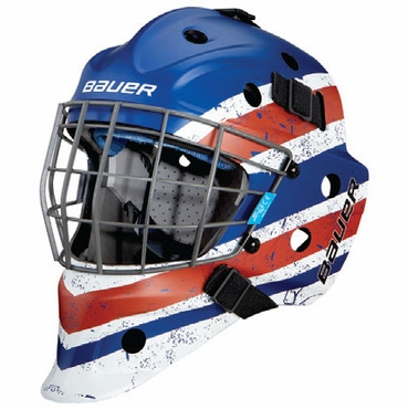 Bauer NME 5 Designs Senior Hockey Goalie Mask - Vintage Royal/Red