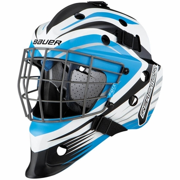 Bauer NME 5 Junior Hockey Goalie Mask - Reactor Blue