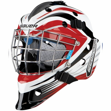 Bauer NME 5 Junior Hockey Goalie Mask - Reactor Chicago