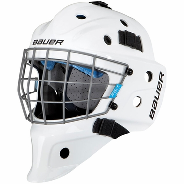 Bauer NME 5 Hockey Goalie Mask - White - Senior