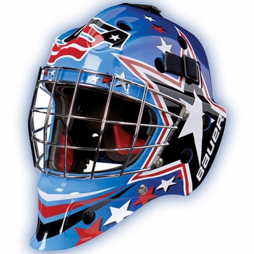 Bauer NME 7 Painted Senior Hockey Goalie Mask - USA