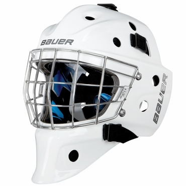 Bauer NME 8 Certified Straight Bar Hockey Goalie Mask - Senior