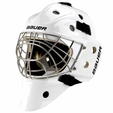 Bauer NME 9 Pro Titanium Senior Hockey Goalie Mask w/Certified Cat Eye Cage - 2012