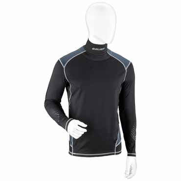 Bauer Premium Integrated Neck Junior Long Sleeve Hockey Shirt