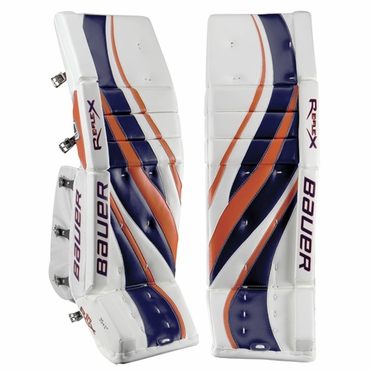 Bauer RX10 Re-Flex Hockey Goalie Leg Pads - Senior