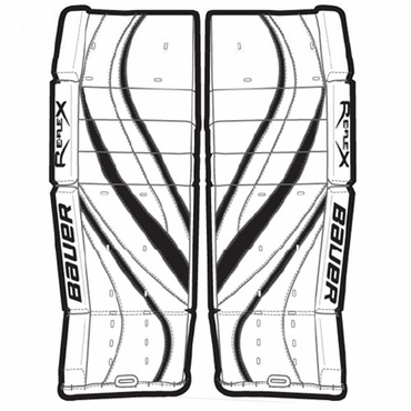 Bauer RX4 Senior Hockey Goalie Leg Pads