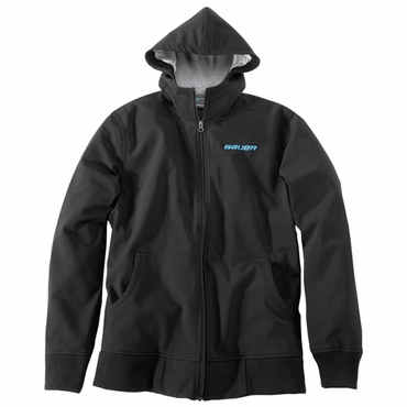Bauer Soft Shell Senior Full Zip Hooded Hockey Jacket