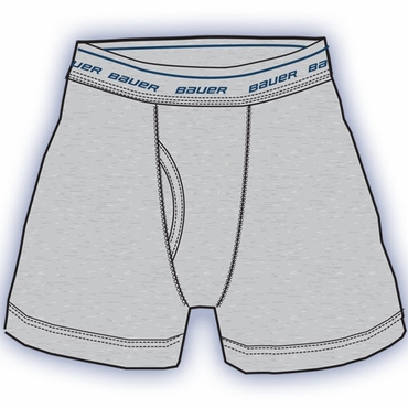 Bauer Solid Hockey Boxer Briefs - Senior