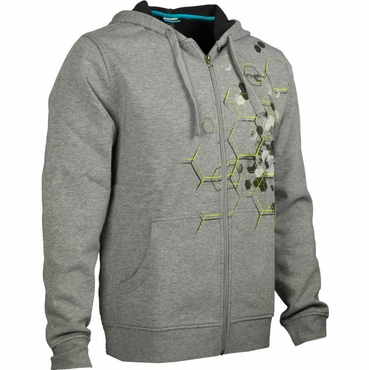Bauer Supreme Full Zip Hockey Hoodie - Heather Gray - Senior