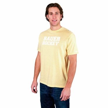 Bauer Varsity Yellow Senior Short Sleeve Hockey Shirt