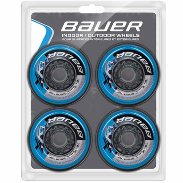 Bauer XR3 Outdoor Inline Hockey Wheels - 4 Pack