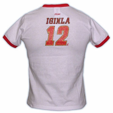 CCM 5165 Player Womens Short Sleeve Hockey Shirt - Calgary Flames - Iginla