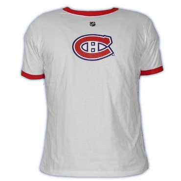CCM 5165 Player Womens Short Sleeve Hockey Shirt - Montreal Canadiens - Huet