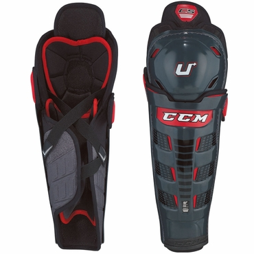 CCM U+ Crazy Strong Senior Hockey Shin Guards