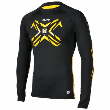 Elite Compression Grip Long Sleeve Performance Hockey Shirt - Senior