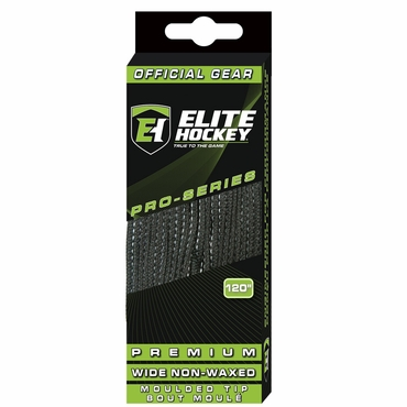 Elite Premium Wide Non-Waxed Molded Tip Hockey Skate Laces