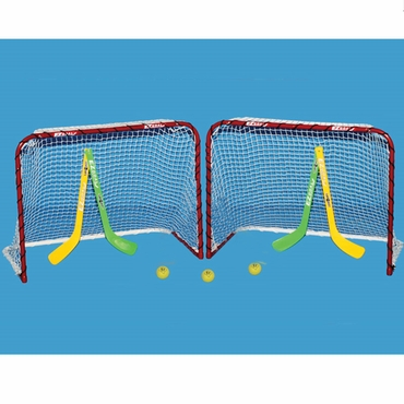 EZ Goal 67202T Double Mini Hockey Goal Package