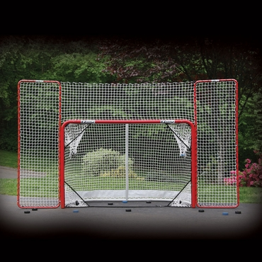 EZGoal 67008 Folding Hockey Goal  w/Backstop & Targets