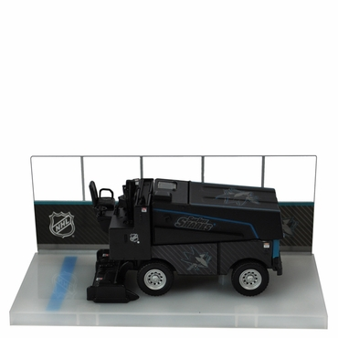 Fan Fever 1:43 Carbon Zamboni Hockey Replica - San Jose Sharks