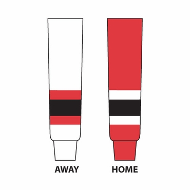 Gladiator Cut Resistant Senior Hockey Socks - New Jersey Devils