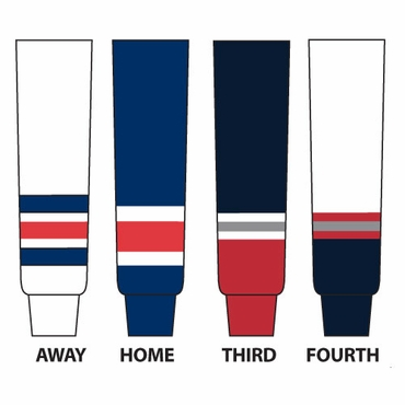Gladiator Cut Resistant Senior Hockey Socks - New York Rangers
