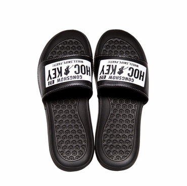 Gong Show Mud Flaps Senior Shower Sandals - Black/White