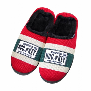 Gongshow Hockey Sock Senior Slippers - Minnesota Wild