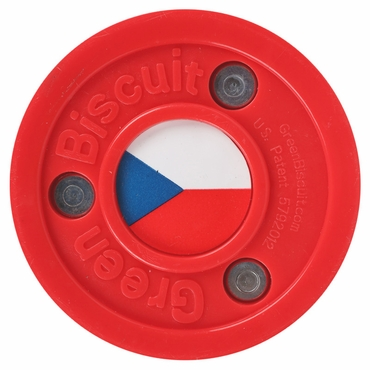 Green Biscuit Olympic Flag Practice Pucks - Czech Republic