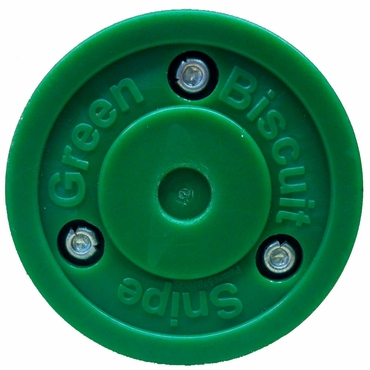 Green Biscuit Snipe Inline Hockey Puck