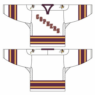 K1 College Line Hockey Jersey - Minnesota Gophers White - Senior