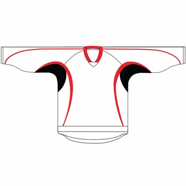 Kamazu 14200 Flexx Lite Team Hockey Jersey - New Jersey Devils - White - Youth
