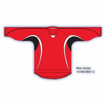 Kamazu 14200 Flexx Lite Team Junior Hockey Jersey - New Jersey Devils