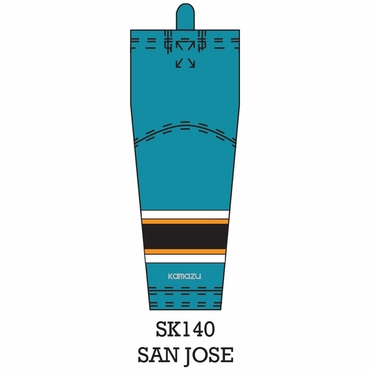 Kamazu FlexxICE LITE SK140 NHL Team Hockey Socks - San Jose Sharks - Senior