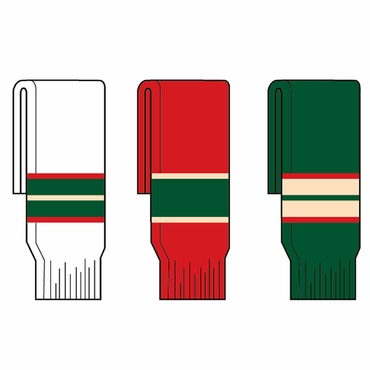 Kamazu FlexxIce Team SK200 Hockey Socks - Minnesota Wild - Junior