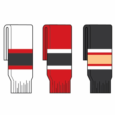 Kamazu FlexxIce Team SK200 Hockey Socks - Ottawa Senators - Senior