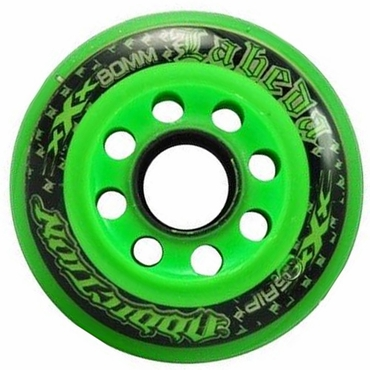 Labeda Addiction XXX Inline Hockey Wheels - Green/Clear/Black