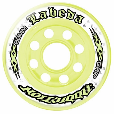 Labeda Addiction XXX Limited Edition Inline Hockey Wheels - Yellow/White