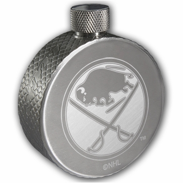 Lucky Puck Hockey Stainless Steel Flask - Buffalo Sabres